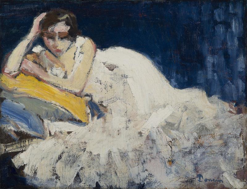 Kees VAN DONGEN - Painting - Femme couchée (Guus Van Dongen)