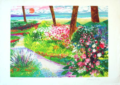 Jean Pierre POPHILLAT - Stampa Multiplo - Coucher de soleil au Cap Ferrat
