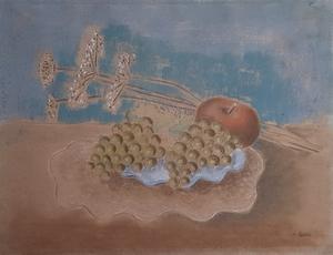 Bruno GOLLER - Drawing-Watercolor - Stilleben