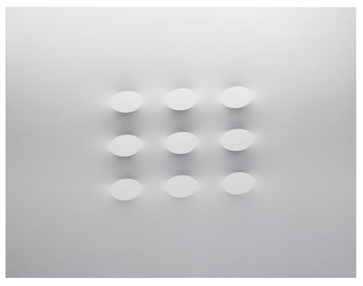Turi SIMETI - Peinture - 9 ovali bianchi