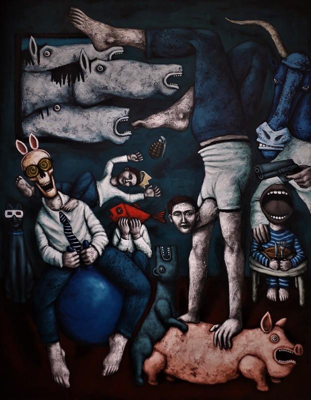 Nicolas MONJO - Painting - Les stabilités précaires