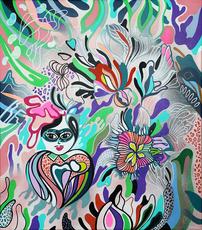 ANTHEA MISSY - Peinture - Hide & Seek