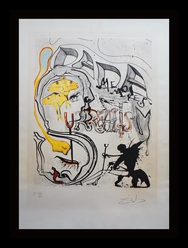 Salvador DALI - Grabado - Memories of Surrealism Angel of Dada Surrealism