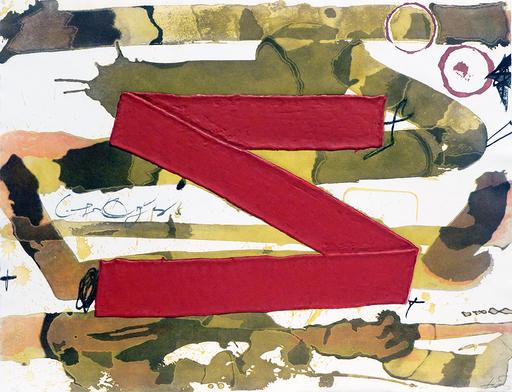 """Antoni TAPIES - Estampe-Multiple - """"Z"""""""
