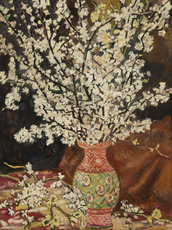 Louis VALTAT - Painting - Bouquet de branches de cerisier