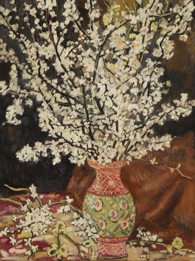 Louis VALTAT - Peinture - Bouquet de branches de cerisier