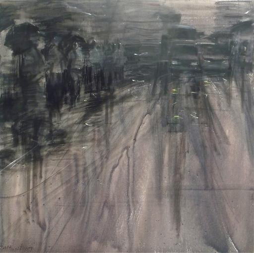 Attasit POKPONG - Pintura - Walking in the Rain VII