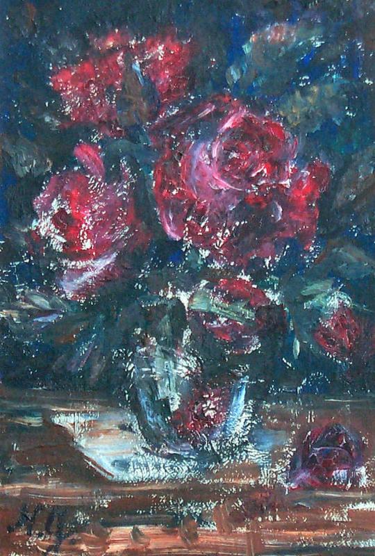 Nathalie GONTCHAROVA - Pintura - Bouquet de fleurs.