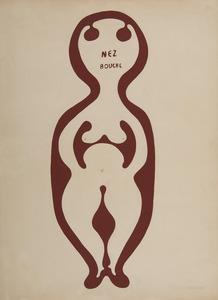 Victor BRAUNER - Drawing-Watercolor - Nez bouche