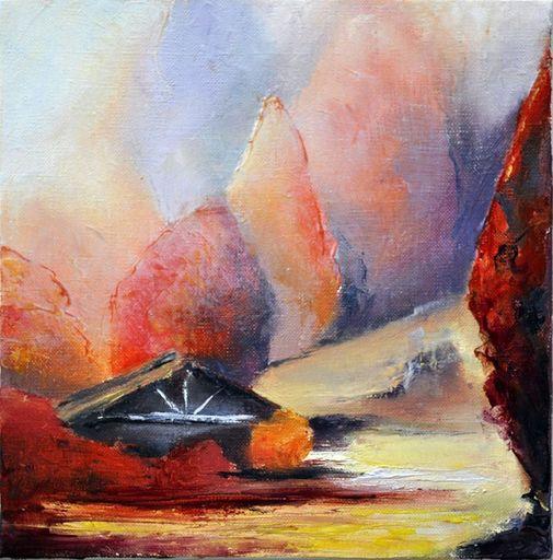 Françoise DUGOURD CAPUT - Painting - Cabanes