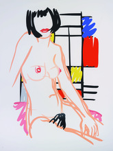 Tom WESSELMANN - Print-Multiple - Monica Sitting with Mondrian