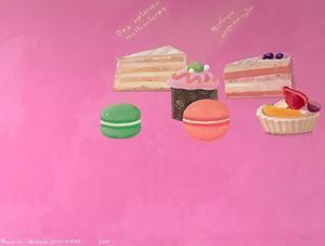 Rusiko CHIKVAIDZE - Painting - Coloful Calories
