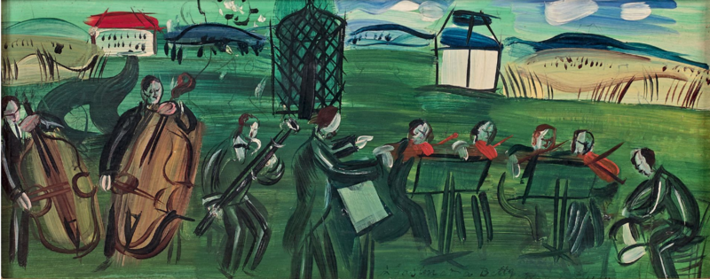Raoul DUFY - Pittura - L'orchestre en plein air
