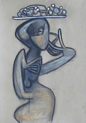 Roberto MATTA - Drawing-Watercolor - Farfalona Amorosa