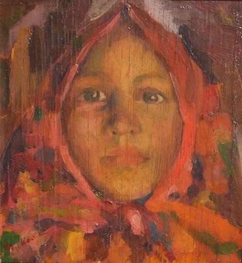 Filip Andreevic MALJAVIN - Pintura - sketch to the artwork Verka, 1913
