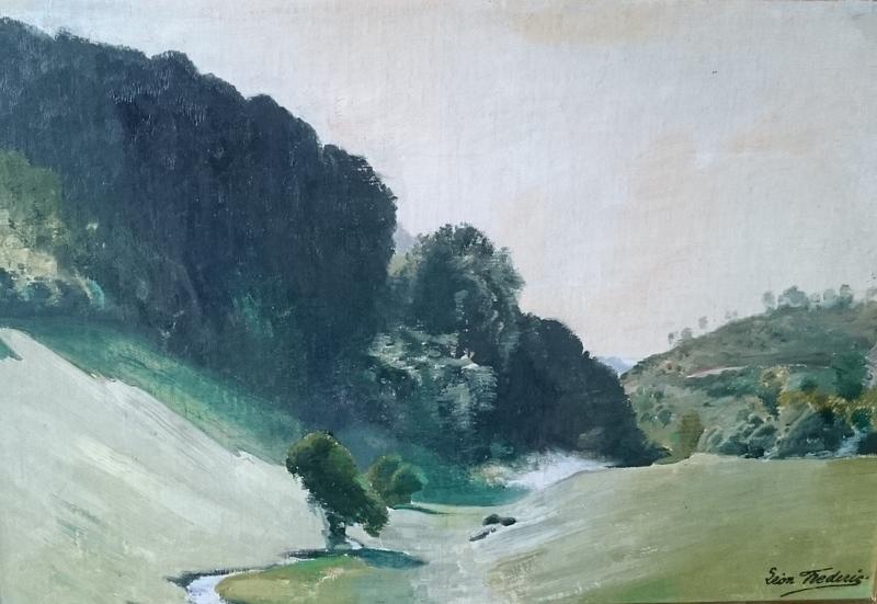 Léon FREDERIC - Pintura - landschap nr 3