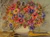 """Monique JOURNOD - 版画 - """"Bouquet rayonnant"""".1995"""