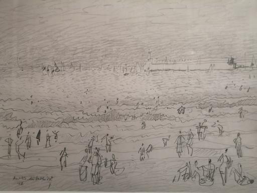 Vincent BIOULES - Dibujo Acuarela - Les Sables d'Olonne