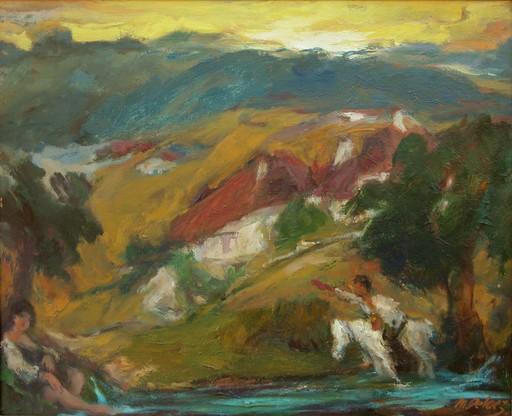 Mariano PELAEZ LANGA - Painting - Está muy fria