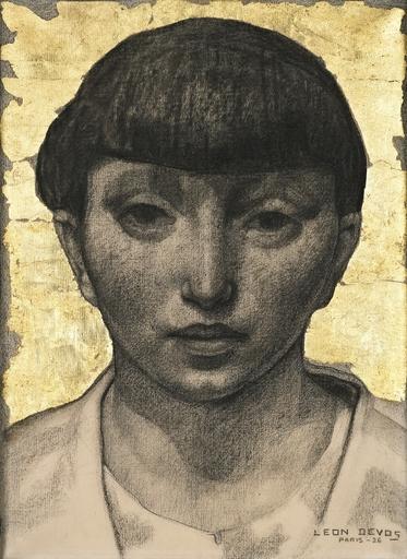 Léon DEVOS - Drawing-Watercolor - La Parisienne