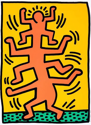 Keith HARING - Estampe-Multiple - Growing I