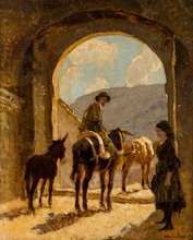 Alessio ISSUPOFF - Painting - Meeting under the Arch