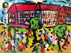 Peter Robert KEIL - Pintura - Belebte Straßenszene