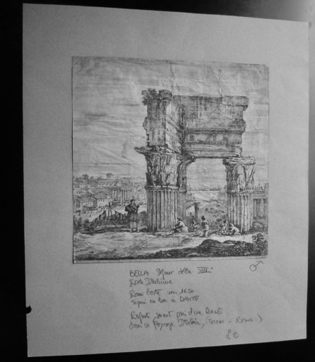 Stefano DELLA BELLA - Druckgrafik-Multiple - Ruine temple forum, Rome