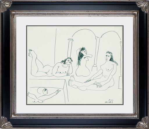 巴勃罗•毕加索 - 水彩作品 - Le Bain (The Bath)