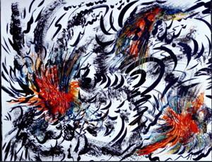 Didier ANGELS - Peinture - LES COQS