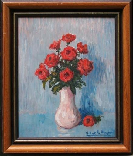 Robert LE BERGER - Pittura - Bouquet de fleurs
