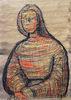 亨利•摩尔 - 水彩作品 - Seated Figure