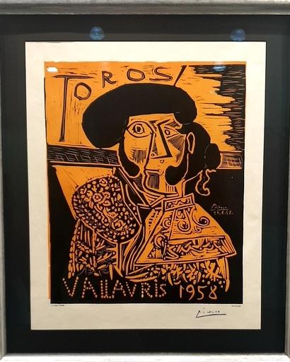 Pablo PICASSO - Estampe-Multiple - Toros Vallauris 1958