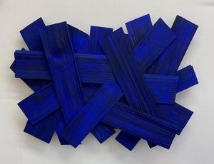 Bernard BEZZINA - Sculpture-Volume - Ripped blue wood