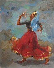 Ismail GULGEE - Painting - Dancing Woman