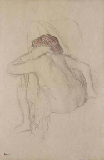 Edgar DEGAS - Drawing-Watercolor - Femme s'essuyant