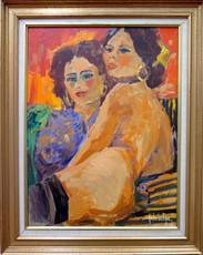 André LARTIGUE - Painting - Kim et Lola