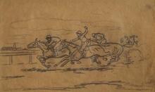 """Ferdinand MAY - 水彩作品 - """"Race"""" by Ferdinand May, ca 1930"""