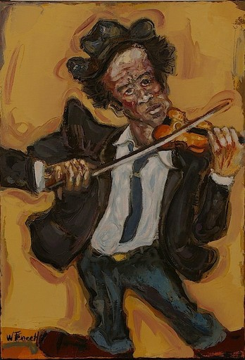 William FENECH - Peinture - le violoniste
