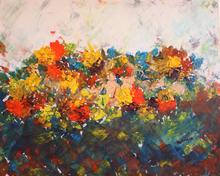 Patricia ABRAMOVICH - Gemälde - Yellow flowers