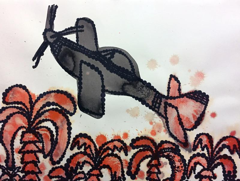 Jiri Georg DOKOUPIL - Dibujo Acuarela - Untitled