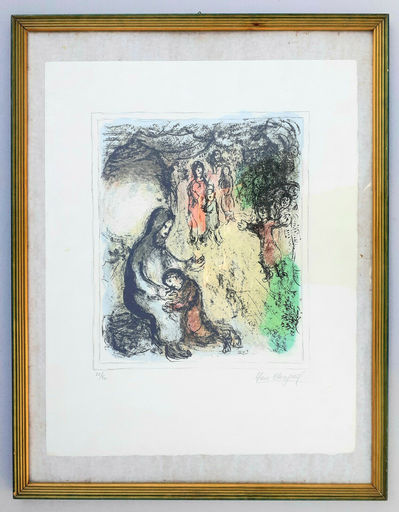 Marc CHAGALL - Stampa-Multiplo - La benediction de Jacob (Jacob's benediction)