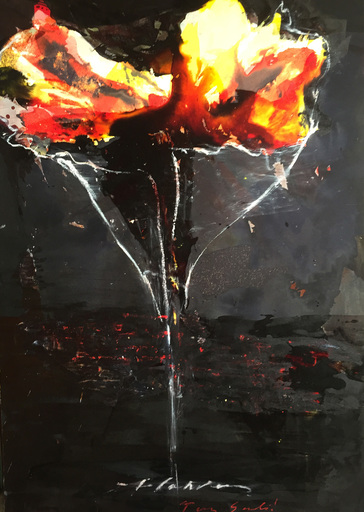 Tony SOULIÉ - Pittura - Dreamed Flower X