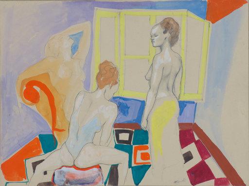 Ugo ATTARDI - Painting - Modelle nello studio