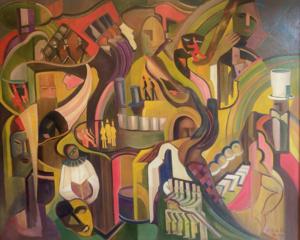 Leo HERMAN - Pintura - At the bar