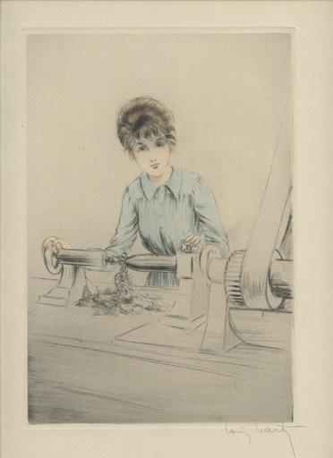 Louis ICART - Print-Multiple - GRAVURE 1917 SIGNÉE AU CRAYON HANDSIGNED ETCHING