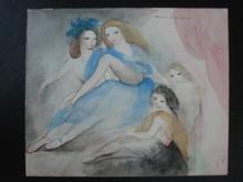 Marie LAURENCIN - Drawing-Watercolor - Dancers