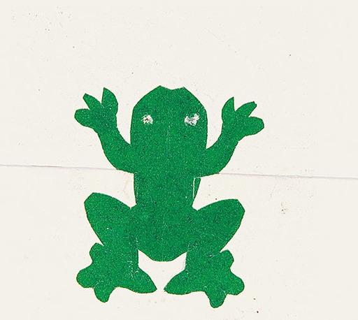 Oskar LASKE - Zeichnung Aquarell - Frosch II