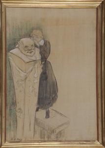Henri Gabriel IBELS - 绘画 - Le Lever du Critique