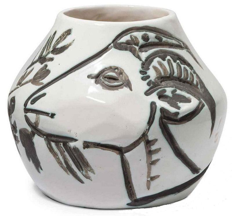 Pablo PICASSO - Ceramiche - Vase aux chèvres